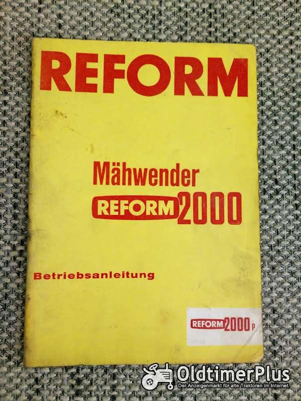 Reform 2000 Mähwender Betriebsanleitung Foto 1