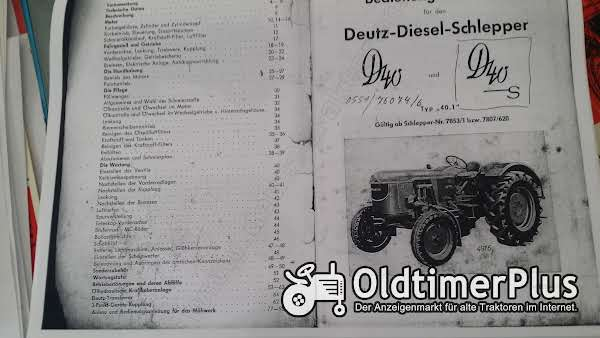 Deutz Betriebsanleitung D40 und D40S Foto 1