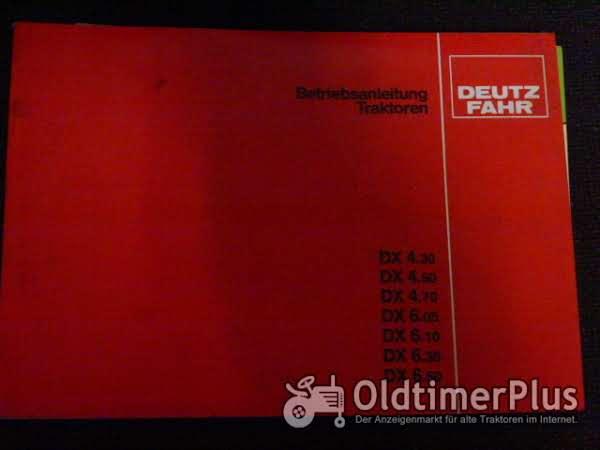 Betriebsanleitung Deutz DX4.30-6.50 Foto 1