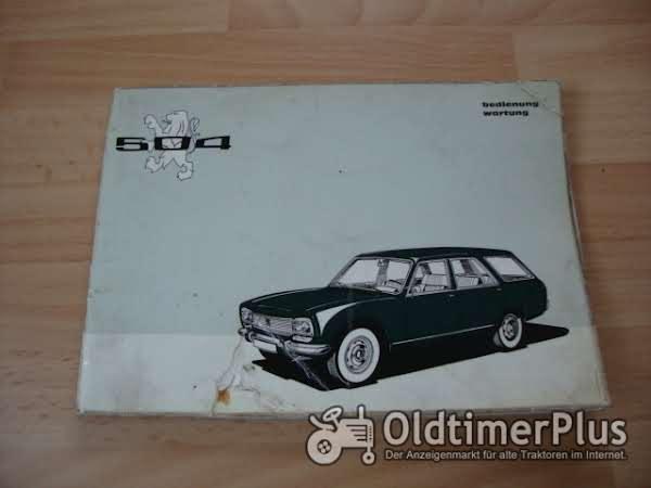 orig. Betriebsanleitung Peugeot 504 Break 1973 Familiale Commerciale Foto 1