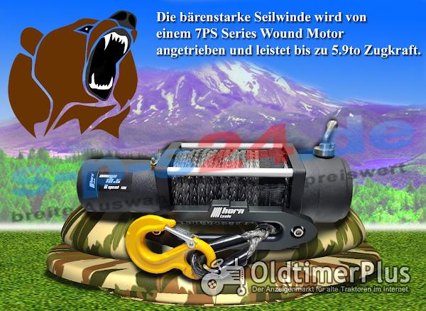 12 volt Seilwinde 5,9 to 2 Gänge | 7 PS Series Wound Motor Foto 1