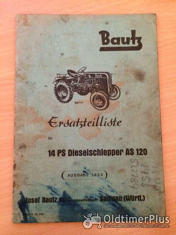 Bautz AS 120 Ersatzteilliste Foto 1