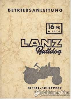 Literatur Lanz Bulldog D1616 - Betriebsanleitung