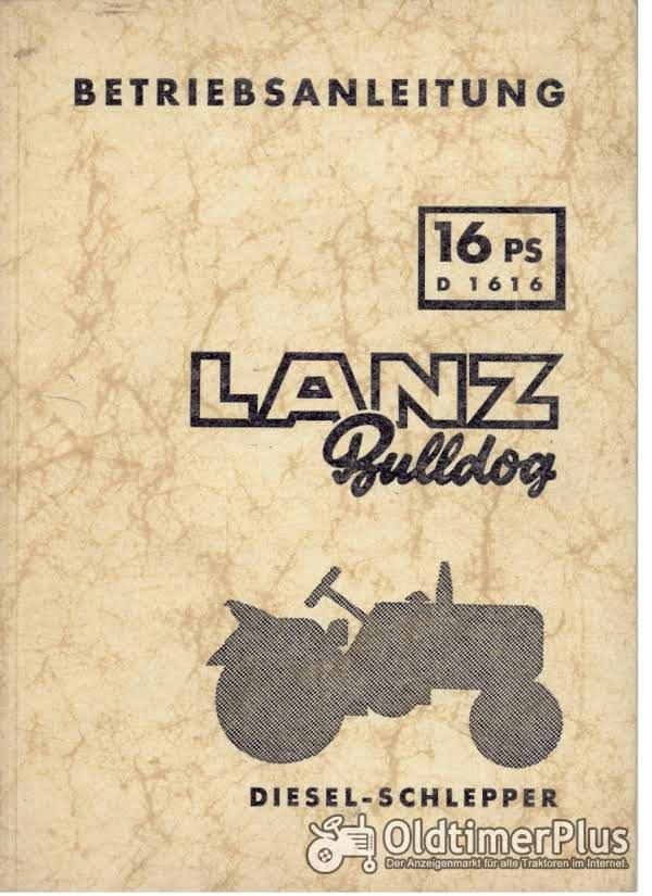Lanz Bulldog D1616 - Betriebsanleitung Foto 1
