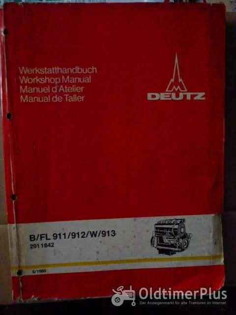 Deutz Werkstatthandbuch für luftgekühlte Dieselmotoren Foto 1