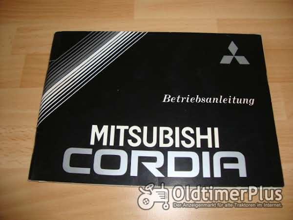 orig. Betriebsanleitung Mitsubishi Cordia Coupé 1982 Foto 1