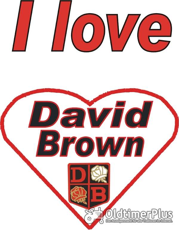 I love David Brown T-Shirt Foto 1