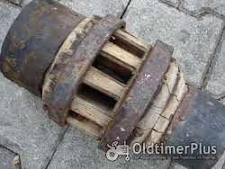 Unbekannt Radnabe von Holzrad Foto 3