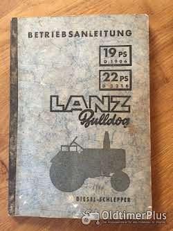 Literatur Lanz Bulldog Betriebsanleitung für D1906 / D2206