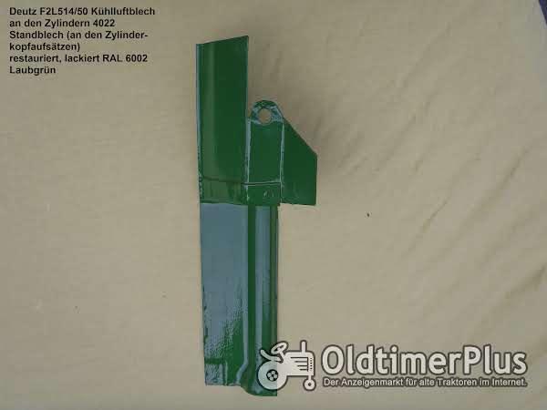 Deutz F2L 514/50 Motor -Kühlluftleitbleche Kühlluftleitbleche Verschiedene rund um die Zylinder Foto 1