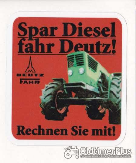 Spar Diesel Fahr DEUTZ Aufkleber Logo Emblem Sticker Label Foto 1
