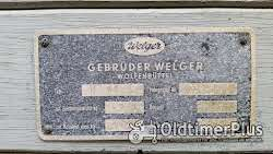 Welger TK60 Triebachsanhänger Einachser Kipper - AZK 60/80F, Blech und Typenschilder Foto 5