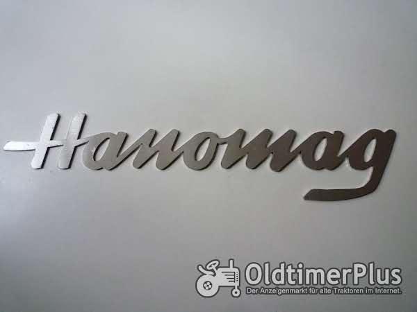 Hanomag R Serie Schriftzug Hanomag Groß aus Edelstahl Foto 1