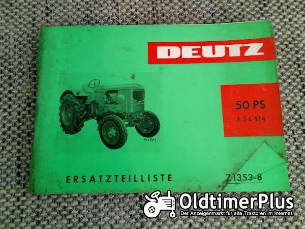 Deutz F3L514 Ersatzteilliste Z 1353-8 Foto 1