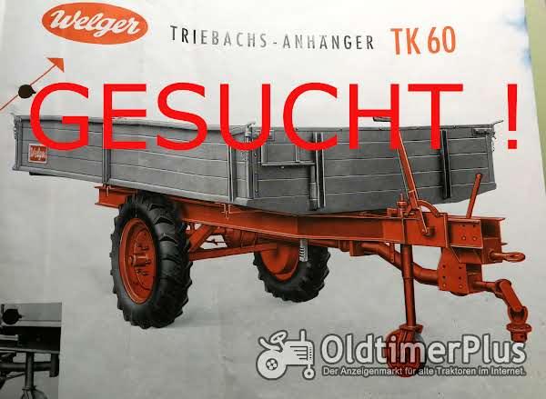Welger TK60 Triebachsanhänger Einachser Kipper - AZK 60/80F, Blech und Typenschilder Foto 1