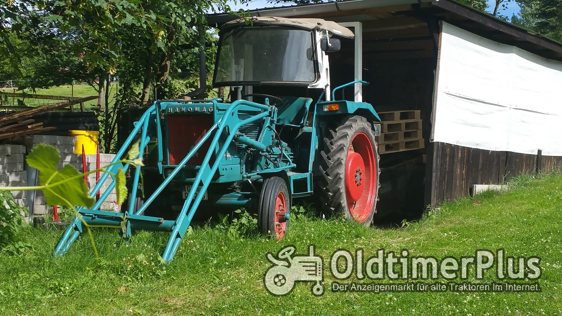 Hanomag 401E Perfect mit Frontlader Foto 1