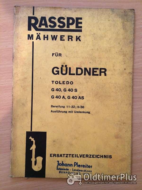 Rasspe Mähwerk für Güldner Toledo G40 Foto 1
