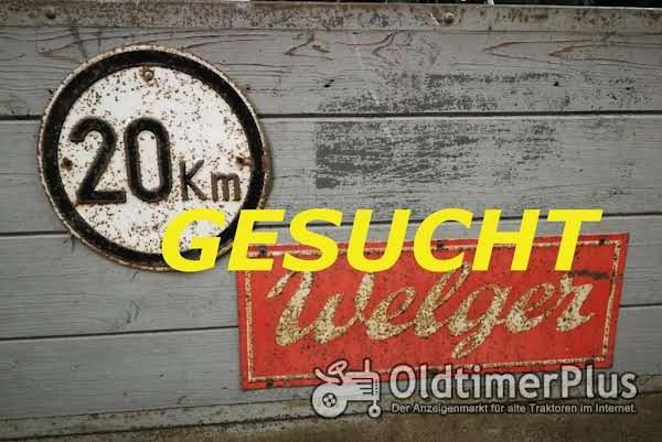 Welger Suche 20 Km Schilder,  Schilder, Typenschilder und Rückstrahler Foto 1