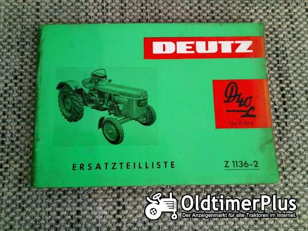 Deutz D40 L Typ D40.2 Ersatzteilliste Z 1136-2 Foto 1