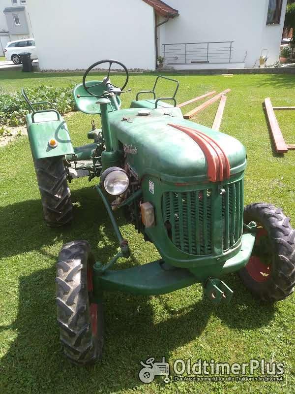 Güldner Oldtimer Traktor A Baureihe mit Mähwerk Foto 1