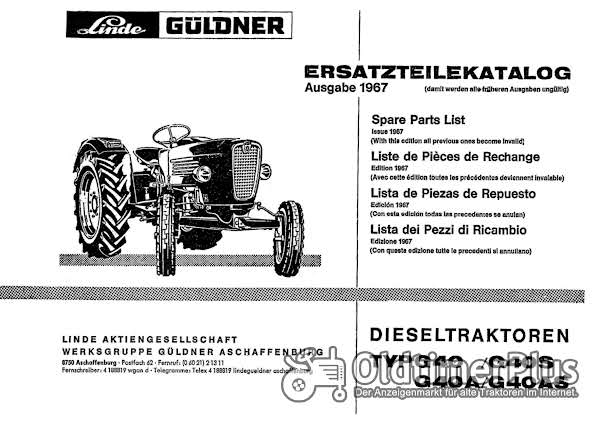 Güldner G40 Ersatzteilkatalog im pdf-Format Foto 1