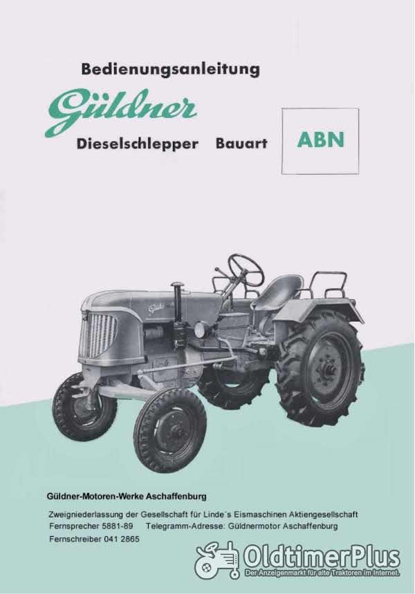 Güldner ABN Bedienungsanleitung in Original oder als pdf-Datei Foto 1