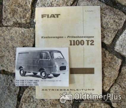 Betriebsanleitung FIAT 1100 T2 Transporter 1960 Foto 1