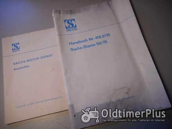 Sachs STAMO 50/75 Handbuch Nr. 410.2/10  Bedienungsanleitung Reparaturanleitung Foto 1
