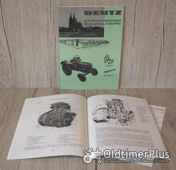 Deutz Bedienungsanleitung Traktor Bauart D25.2 ab Bj.1964 H1125 5/2 Foto 1