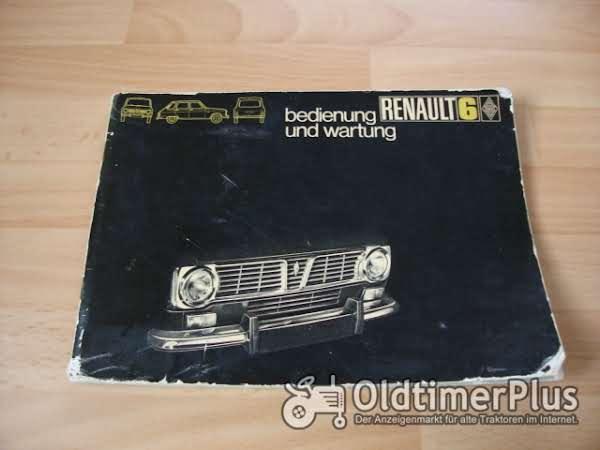 orig. Betriebsanleitung Renault R6 1970 Foto 1