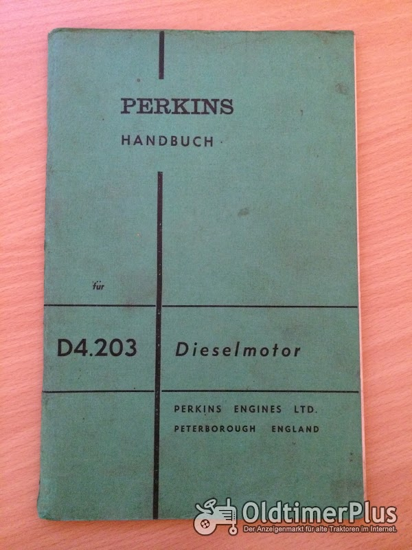 Perkins D4.203 Dieselmotor Handbuch Foto 1