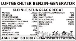 Benzin Stromerzeuger LZ3500 2,8 KW Generator Neuware Foto 5