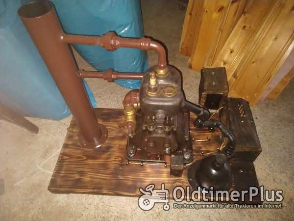 Givaudan historische Landmaschine Standmotor Benziner mit 350 ccm Foto 1