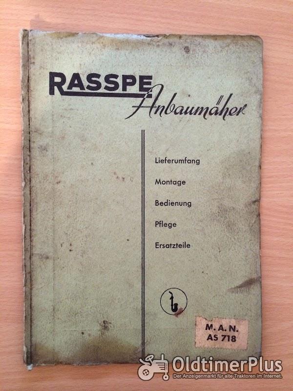Rasspe Mähwerk für MAN AS 718 Foto 1