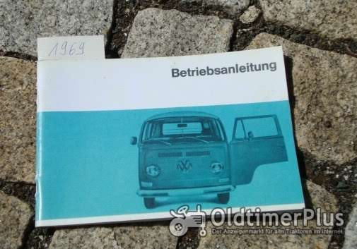 Betriebsanleitung VW Transporter Bus 1969 T2 47 PS Foto 1