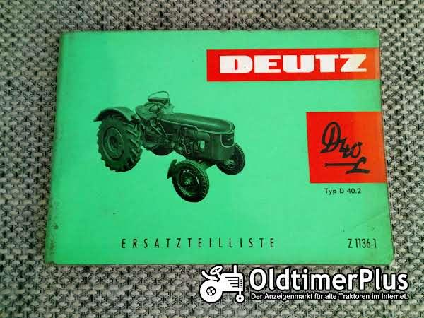 Deutz D40 L Typ D40.2 Ersatzteilliste Z 1136-1 Foto 1