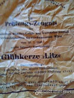 Hanomag D52 D85 Glühkerze W171 hanomag D52 D85 gloeibougie merk Litz Foto 4