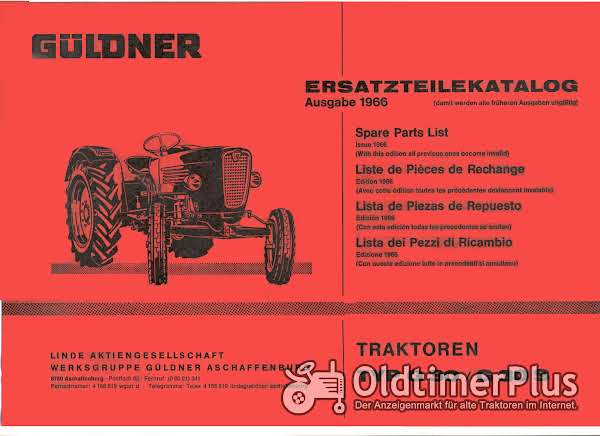 Güldner G30 Ersatzteilkatalog im pdf-Format Foto 1