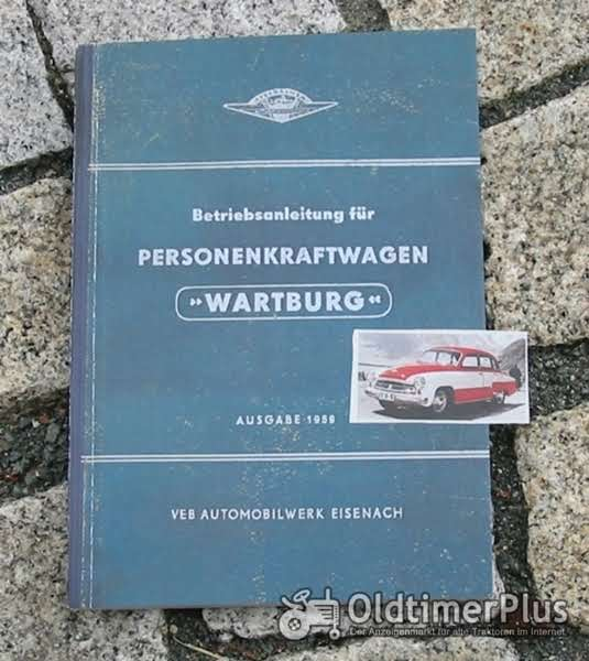 Betriebsanleitung Wartburg 311 / mit Sport Coupé 1959 Foto 1