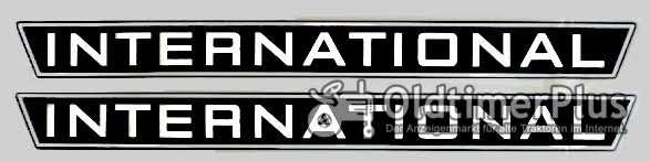 2x  International für Motorhaube ca. 75x7,5cm (links und rechts) neu Foto 1