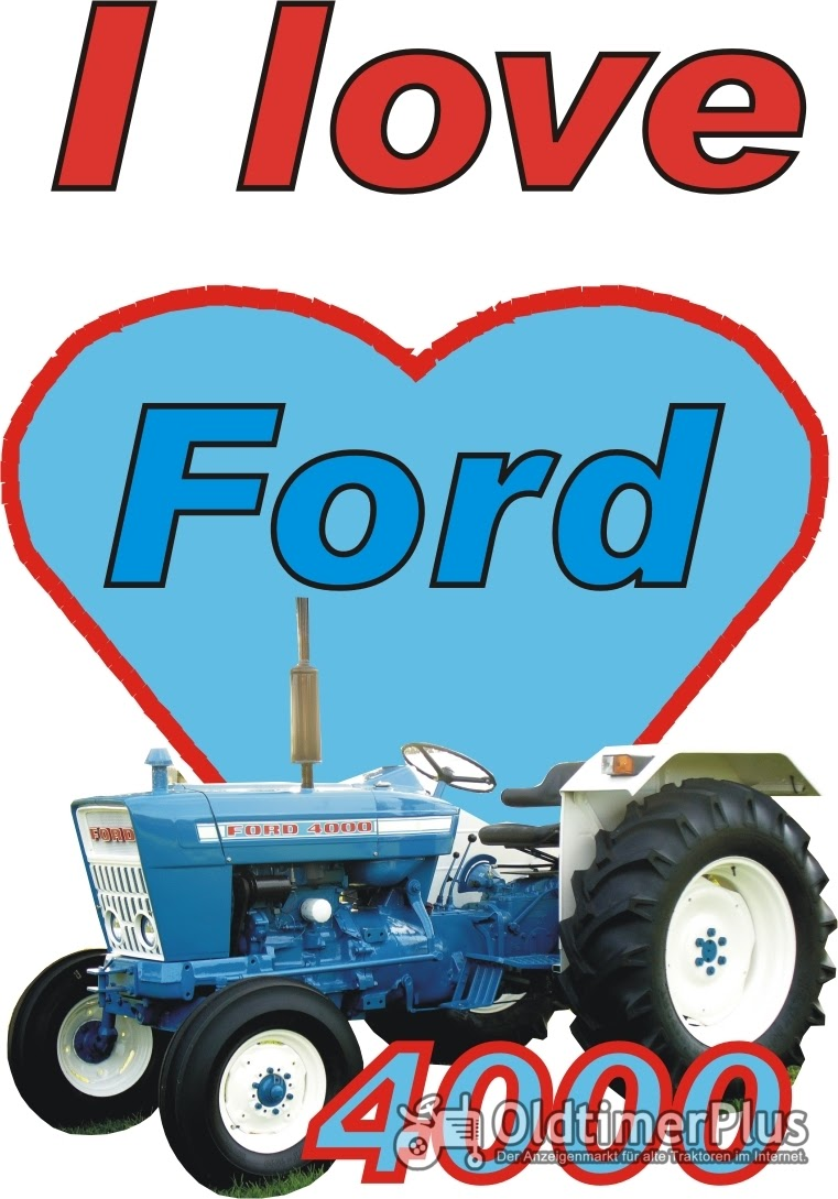 I love Ford 4000 T-Shirt Foto 1