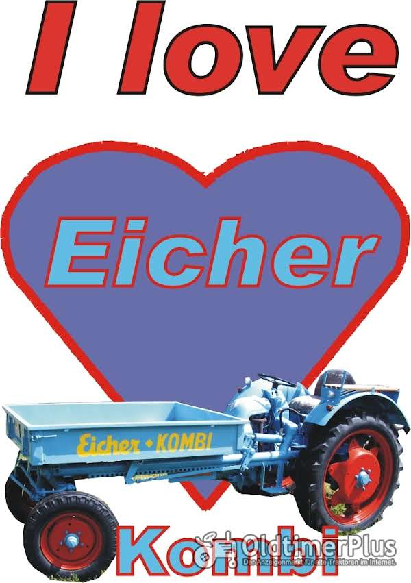 I love Eicher Kombi T-Shirt Foto 1