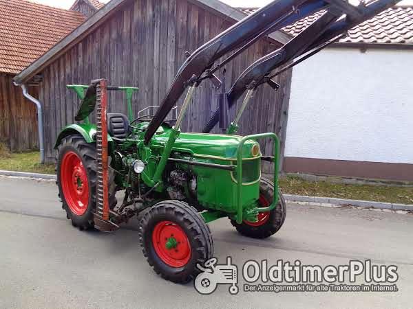 Deutz D40 mit Frontlader & Mähbalken Foto 1