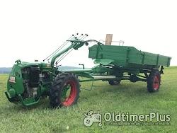 AGRIA Hatz Agria 2800 Hatz 12 PS mit Völker Triebachs-3Seit-Kipper-Anhänger Foto 2