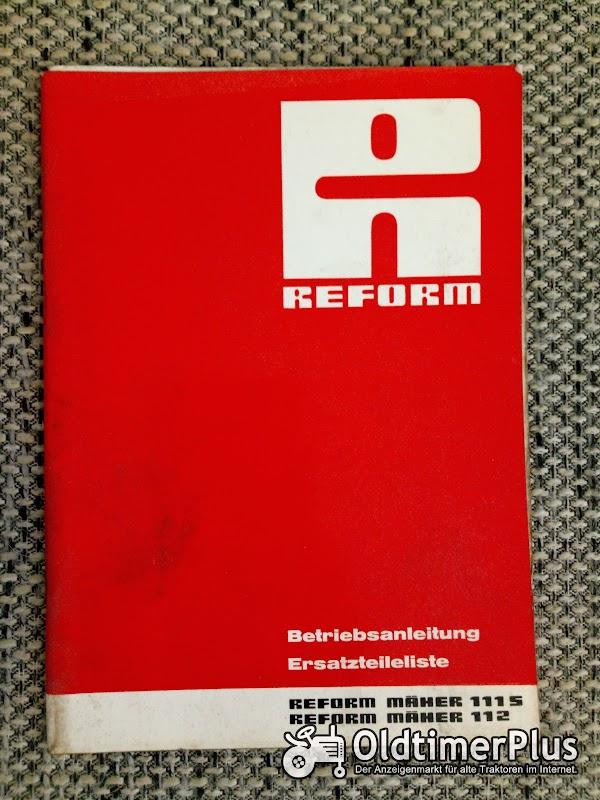 Reform Mäher 111S 112 Betriebsanleitung Ersatzteilliste Foto 1