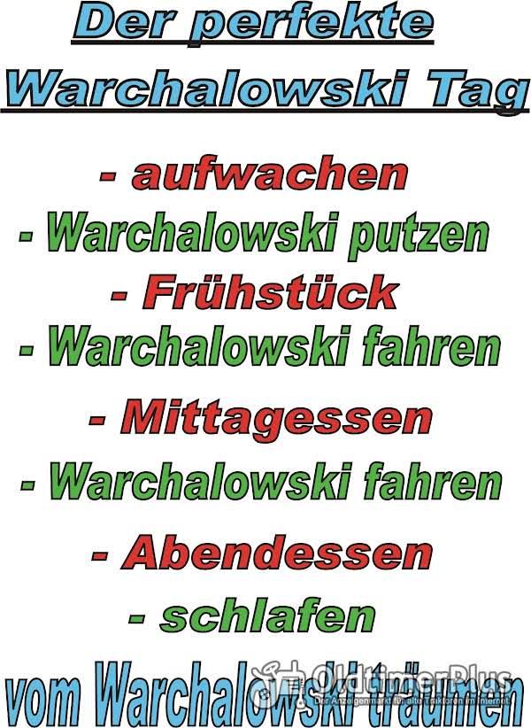 Warchalowski...perfekter Tag...T Shirt Foto 1