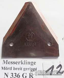 Mörtl, Stockey & Schmitz, Mähwerk, Fingerbalkenmähwerk, Schleppermähwerk. Ersatzteile, Messerklingen Foto 6