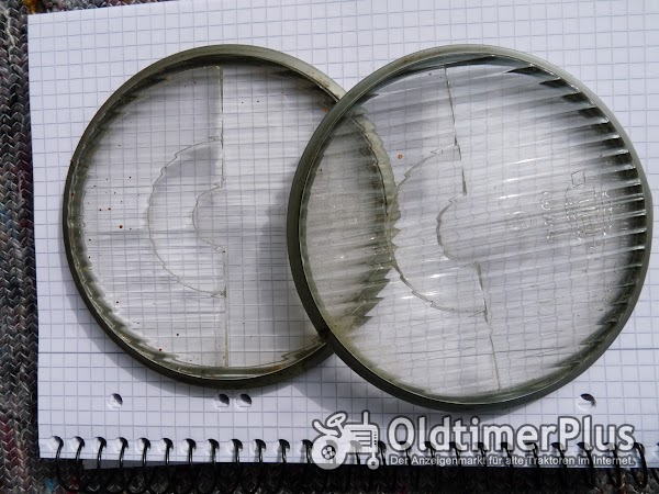 Hella 2 Stück Ersatz Gläser für Scheinwerfer Ø10,5 cm – Oldtimer Foto 1