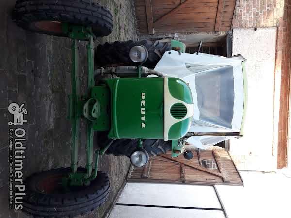Deutz Traktor mit Einachshänger Foto 1