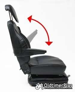Universal Traktorsitz mit Feder - Öldämpfer System, belastbar bis 130 kg NEU Foto 5